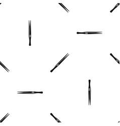 Tweezers pattern seamless black vector