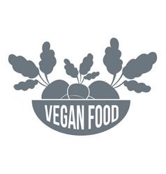 vegan food logo simple style vector image