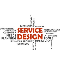 word cloud service design vector image vector image
