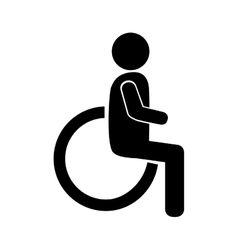 Disability sign wheelchair vector