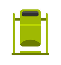 Swinging trashcan icon flat style vector