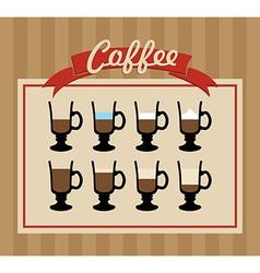 Retro coffee cups set poster vector image