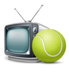 tennis channel vector image