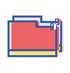 folder file to save important documents vector image