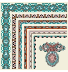 Collection of ornamental floral vintage frame vector