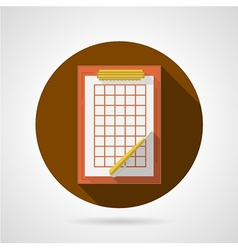 Flat icon for clipboard vector