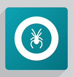 Flat spider icon vector