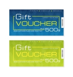 Futuristic gift voucher templates in two colors vector