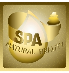 Lettering spa natural beauty vector