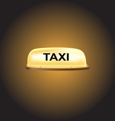 Taxi car roof sign vector