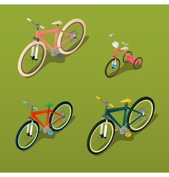 Isometric bicycle city bicycle children bicycle vector