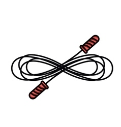 Jump rope isolated icon design vector