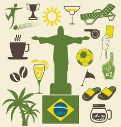 brazil ikonice vector image