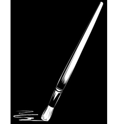 brush on black background vector image vector image