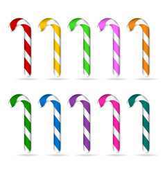 christmas candy cane set vector image