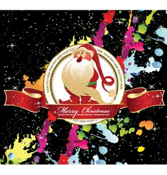 christmas label with splash vector image vector image