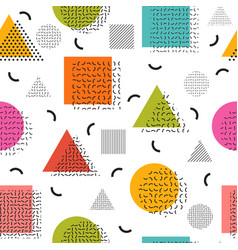colorful seamless pattern with geometric shapes vector image