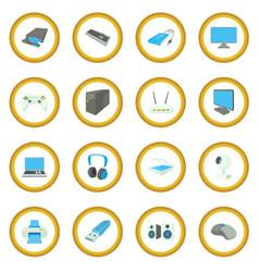 computer equipmen icon circle vector image vector image