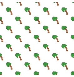 Cutting tree pattern cartoon style vector