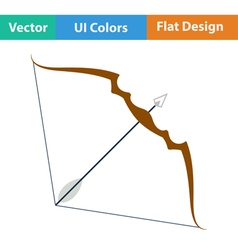 Flat design icon of bow and arrow vector
