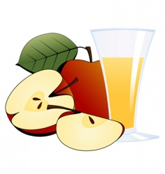 glass of apple juice vector image