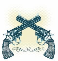 hand gun illustration vector image