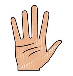 Hand human open icon vector
