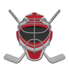 Hockey goalie vector