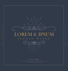 luxury logos template flourishes calligraphy vector image