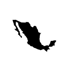 map - mexico vector image