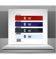 Modern business stripes infographic design vector