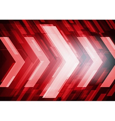 Red abstract technology arrows vector image