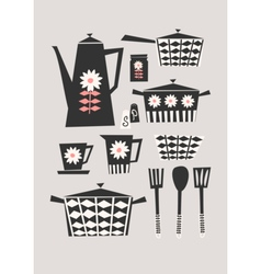 Retro Kitchen Set vector image