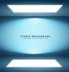 room with studio lights vector image vector image