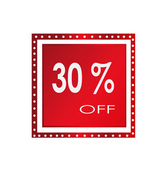 sale 30 off banner design over a white vector image