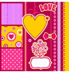 scrap love vector image vector image
