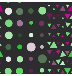 Seamless pattern of circles and triangles pink vector image vector image