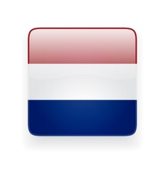 Square icon with flag of netherlands vector