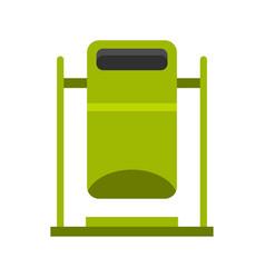 Swinging trashcan icon flat style vector