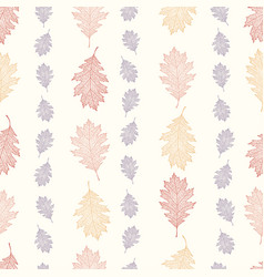 Vintage pattern from the leaves of red oak vector