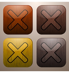 Wooden cross marks vector image