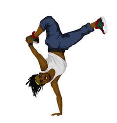 Young man dancing vector