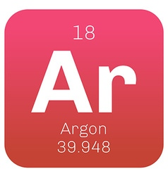 Argon chemical element vector