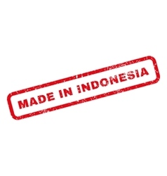Made in indonesia rubber stamp vector