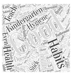 Health needs and kindergarten word cloud concept vector