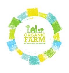 organic farm fresh healthy food eco green vector image