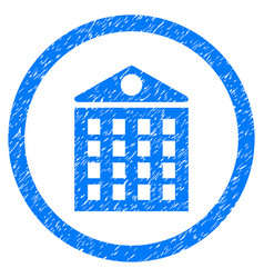 multi-storey house rounded grainy icon vector image