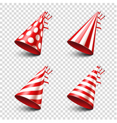 Party shiny hat with ribbon holiday decoration vector