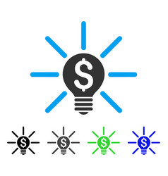 Business idea bulb flat icon vector