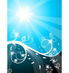 Cold christmas background vector